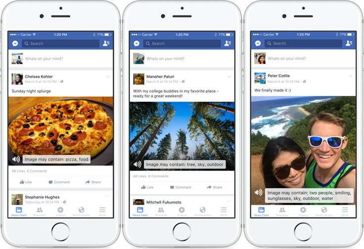 Blind 'can see' photos with new Facebook tool