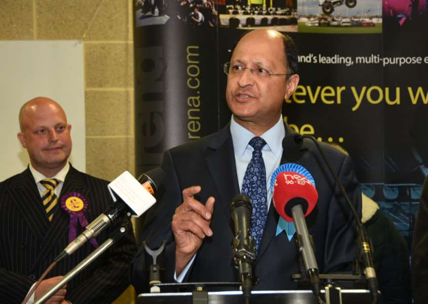 Shailesh Vara has been returned as MP for North West Cambridgeshire.