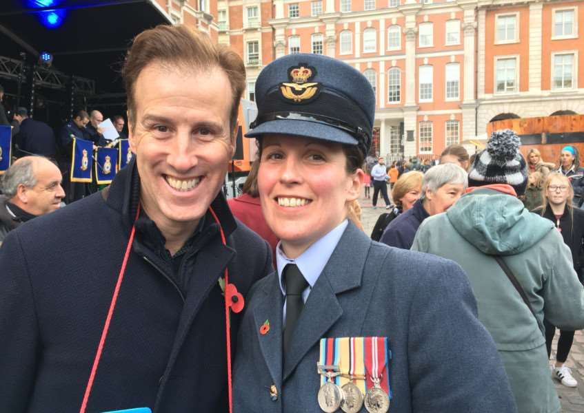 RAF Wittering personnel meet the stars of Strictly Come Dancing'Sqn Ldr Jayne Mithcell and Anton Du Beke EMN-160711-164809001
