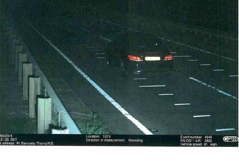 A speed camera catches Kenneth Wallce driving at a speed of 81mph.