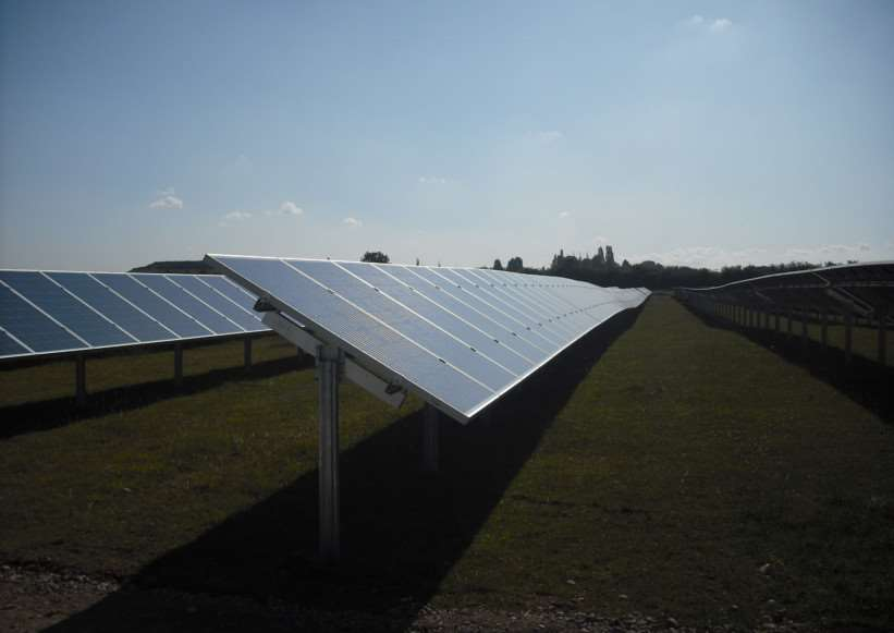 Lark Energy's solar farm in Hawton.