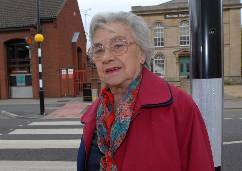 Bourne Town Cllr Shirley Cliffe, who has raised concerns about the zebra crossing on West Street.'Photo: Oliver'SM270509_012ow.jpg