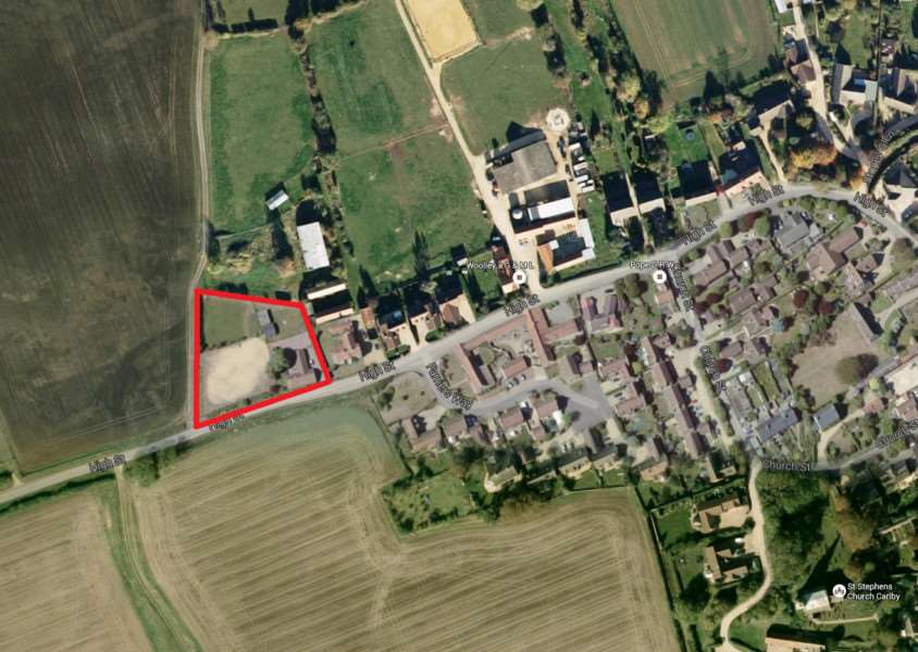 The proposed location for a Gospel hall in High Street, Carlby. Photo: Google EMN-160114-111240001