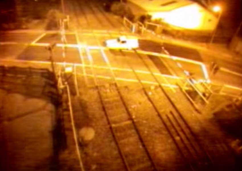 Safety warning as level crossing footage is released