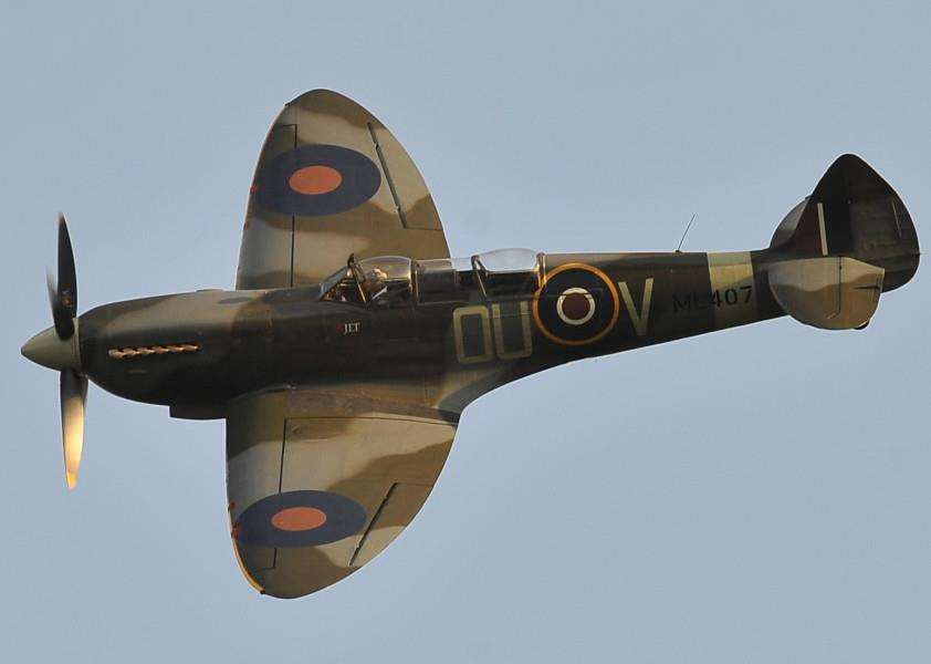 The Spitfire flypast at the Burghley House Battle Proms EMN-150407-215754009