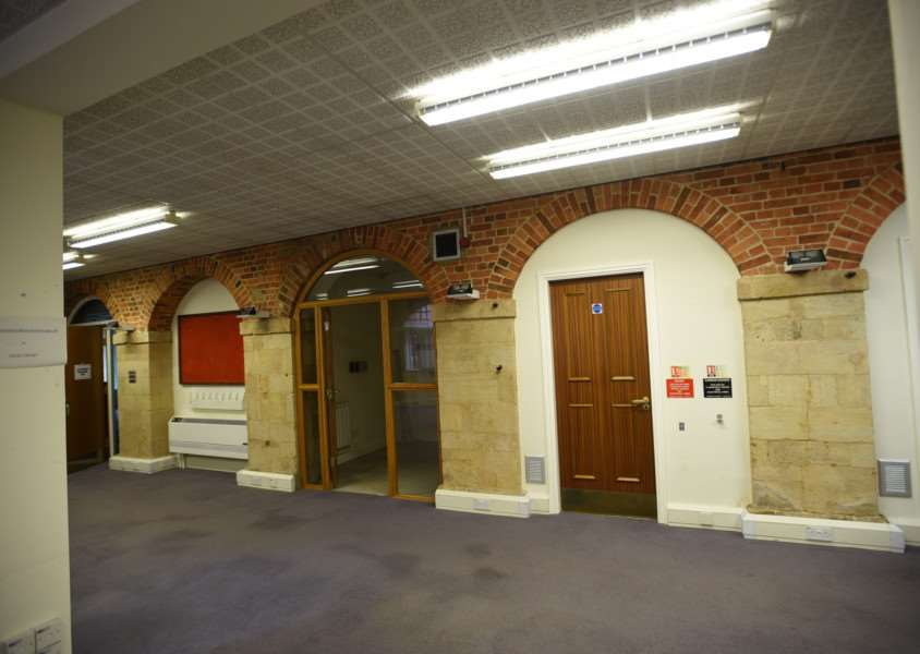 Interiors and exteriors of the Town Hall at Bourne EMN-151013-162059009