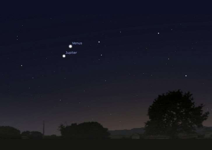 Venus and Jupiter will appear to hug each other in a rare conjunction event.