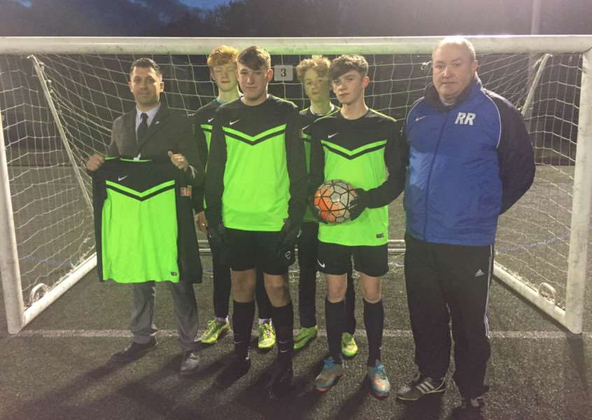 Upingham Colts kit presentation