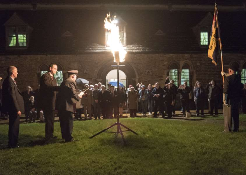 The lighting of the beacon in Rutland to mark VE day. Photo: Mike Frisby EMN-151105-181503001