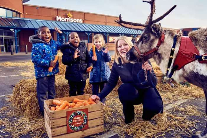 Morrisons supermarkets across the UK will be giving away 200,000 wonky carrots in an effort to support the Christmas tradition of leaving out refreshments for Father Christmas and his trusty reindeers on Christmas Eve.
