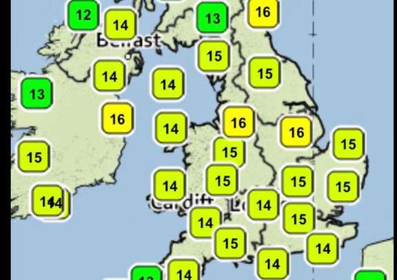 Temperatures across the UK at just 8am this morning, already looking warm!