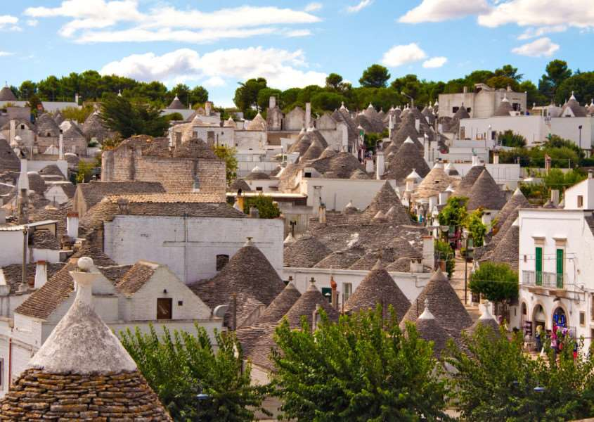 Alberobello in Pulglia, Italy. PA Photo/Ed Gerstner. ENGSNL00320111013144444