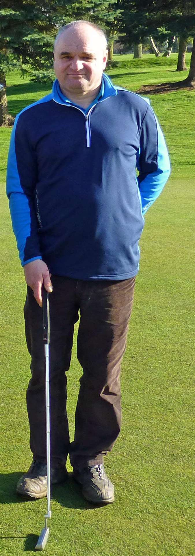 Richard Vaughan won the Christmas Stableford at Burghley Park at the weekend. (6149362)
