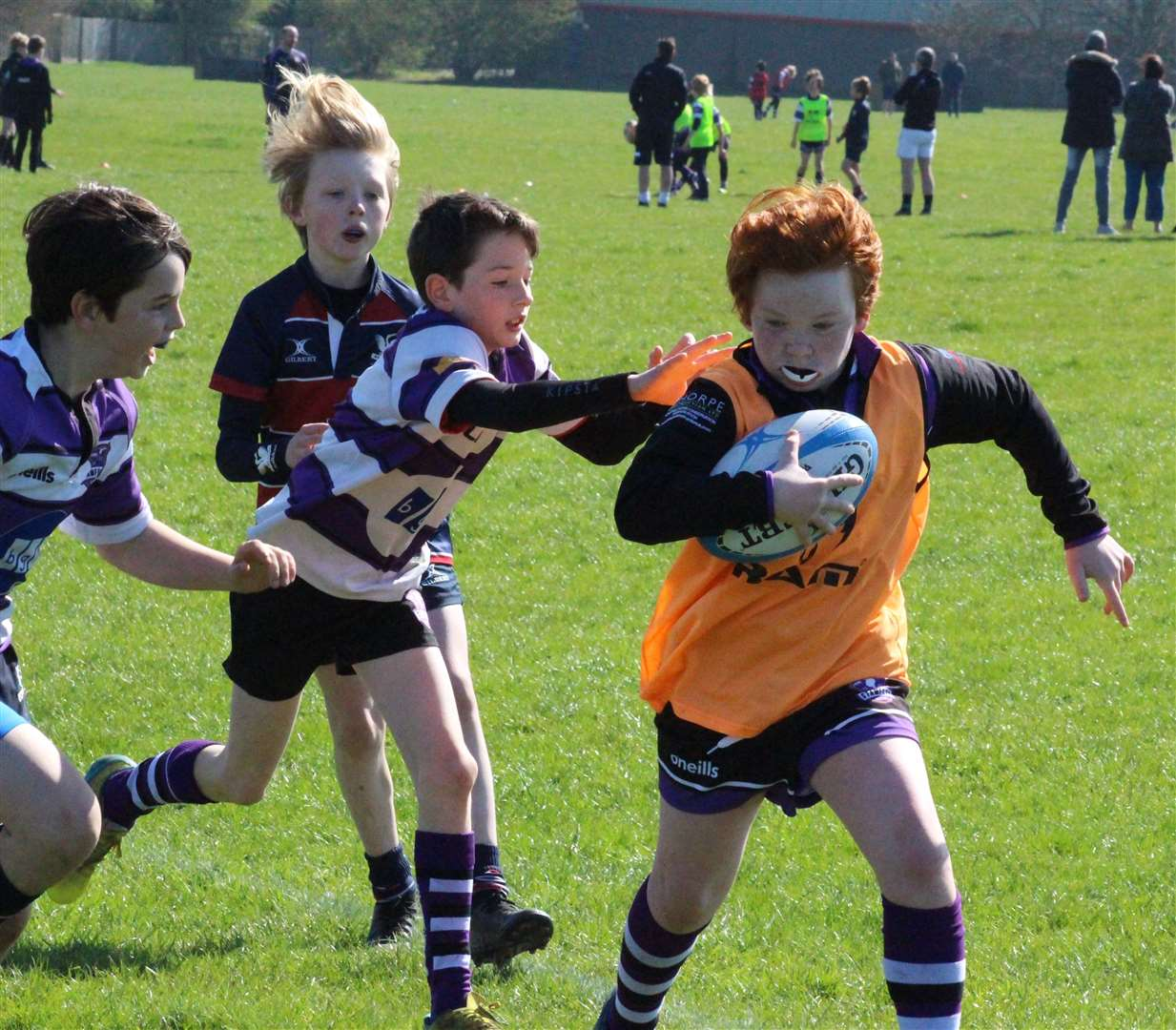 Minis and junior players kicked off an extended season at Stamford Rugby Club. Photo: Darren Dolby (45919505)