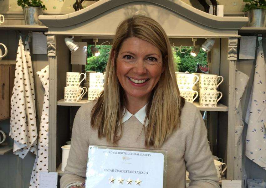 Sophie Allport, who won a four star award for her stand at Chelsea Flower Show EMN-150519-103834001