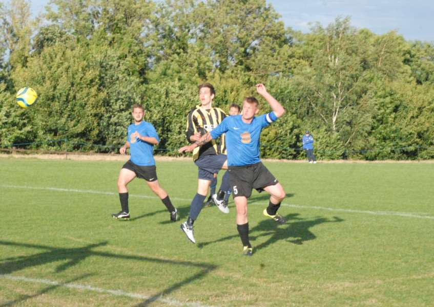 Action from Ketton v Uppingham Town in the PDFL Premier Division. Photo: John Evely EMN-161008-085637001