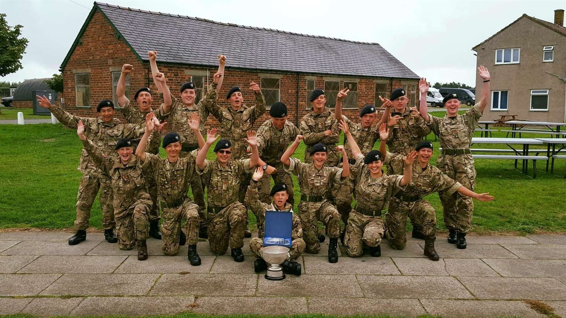 Bourne Army Cadets celebrate winning the Lucas Tooth Trophy (3895202)