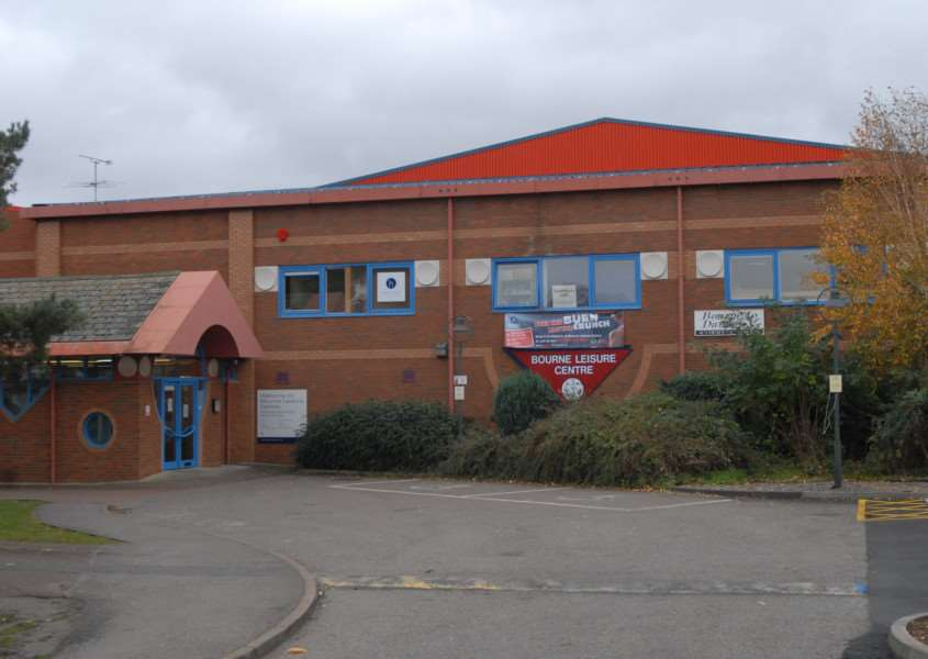Bourne Leisure Centre in Queens Road, Bourne.