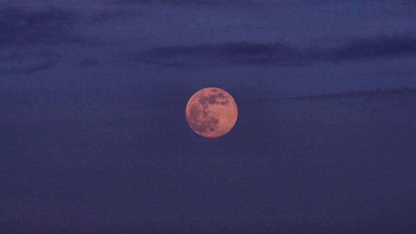 Tuesday's pink moon is the biggest and brightest of the year