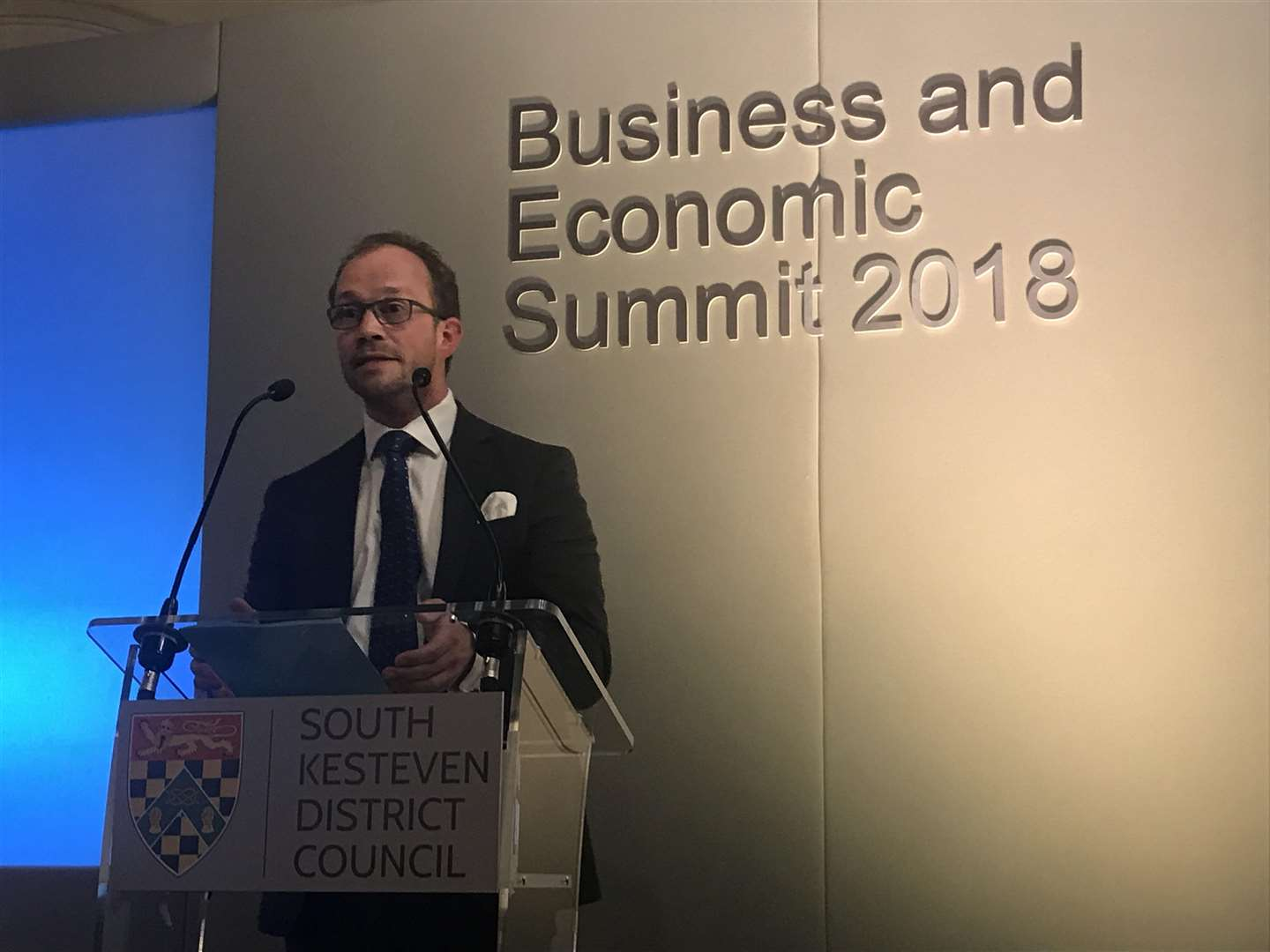 Matthew Lee at SKDC's 2018 economic business summit at Grimsthorpe Castle (4754695)