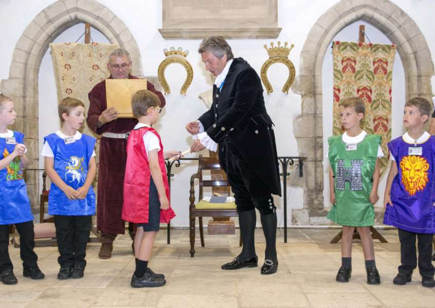 Youngsters enjoy the Knight's School in Oakham