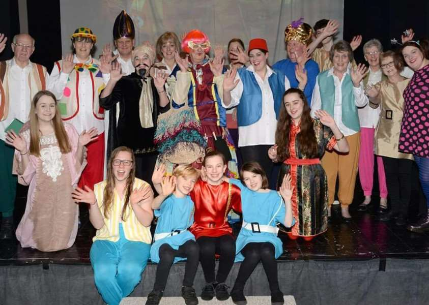 The cast of ACTS (All Comers Theatre Society) and their production of Aladdin: Adventures in the East at Deepings Methodist Church. Photo by David Pearson.