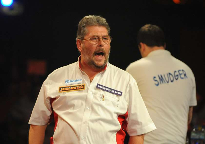 England's Martin Adams (left) celebrates beating England's Ross Smith in the Men's Quarter final during the BDO World Professional Darts Championship at the Lakeside Complex, London. PRESS ASSOCIATION Photo. Picture date: Thursday January 6, 2011. Photo credit should read: PA Wire. 2323