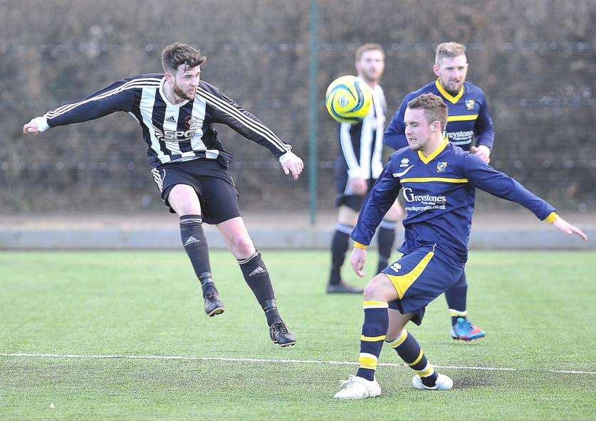 Action from Langtoft v Sawtry at Bushfield EMN-150221-173346009