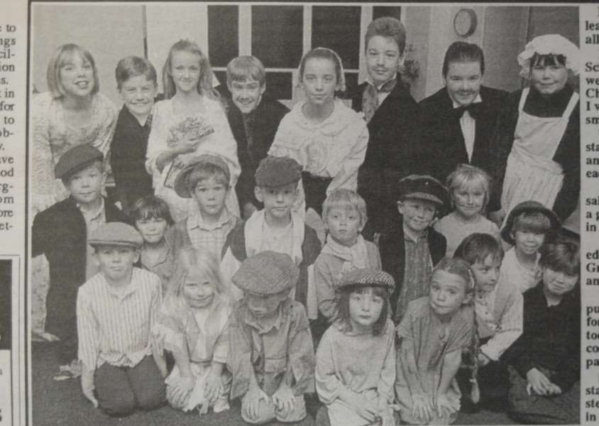 25 years ago : December 20, 1991 - Pupils at Barnack School spent almost three weeks rehearsing for their Christmas production 'When I was Your Age...' to ensure a smooth performance. The show involved all 92 pupils at the school - the excellent costumes were made by parents.