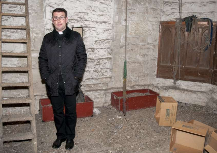 Major clean-up operation launched at St Mary's Church, Stamford, to tackle pigeon waste