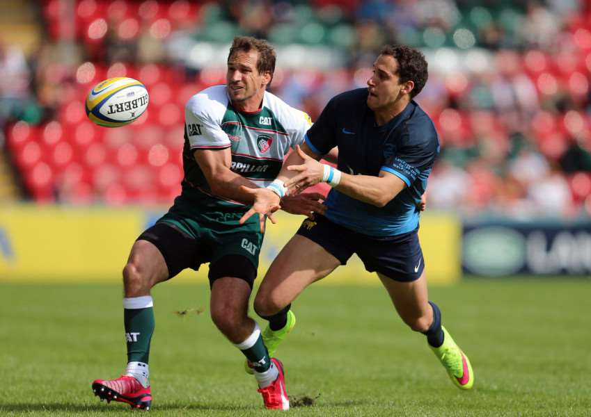 Action from Leicester Tigers v Argentina. Photo: Tiger Images EMN-150809-121749001