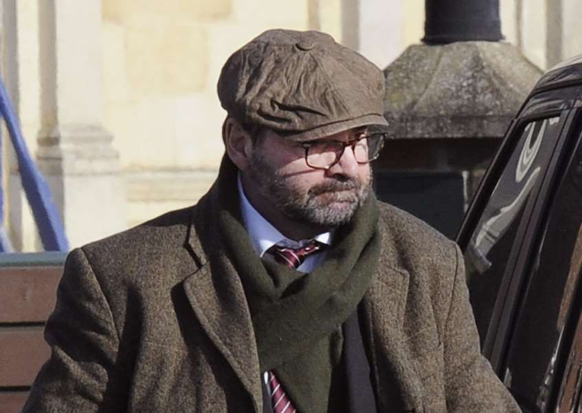 David (Brendan) Coyle (Downton Abbey Actor) pictured in King's Lynn after his Court appearance on drink-driving charge. ANL-161102-133750009