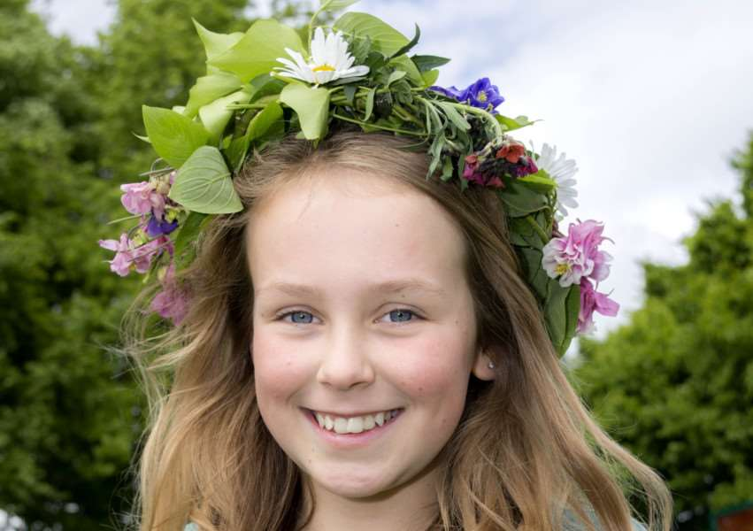 May Queen Macy Rodway, 11, at the fete