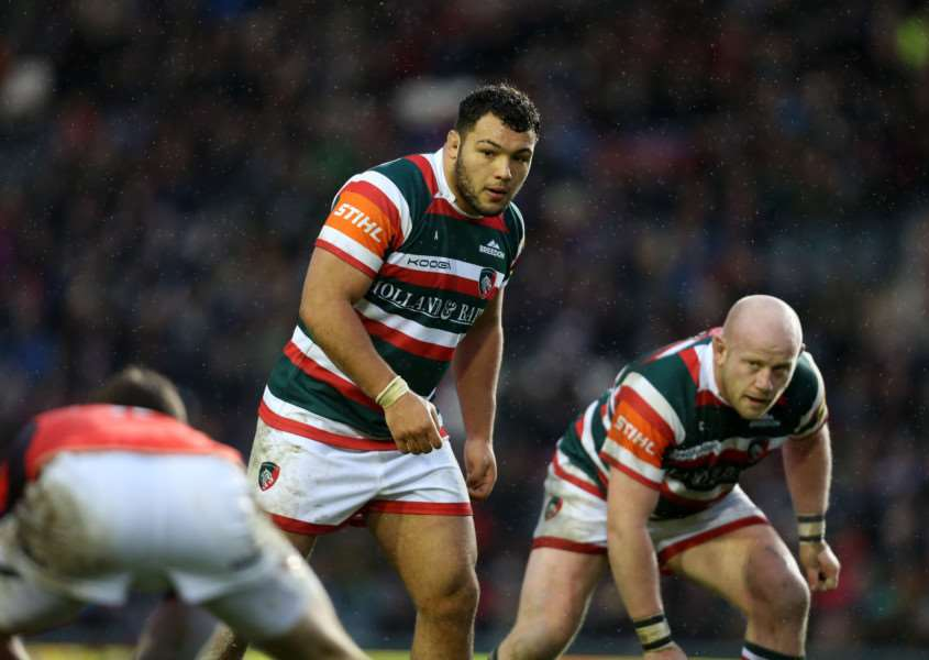 Ellis Genge in action for Leicester Tigers. Photo: Tiger Images