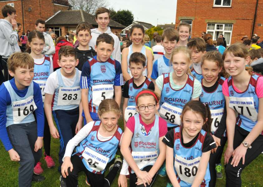 Fun runners from Bourne Town Harriers