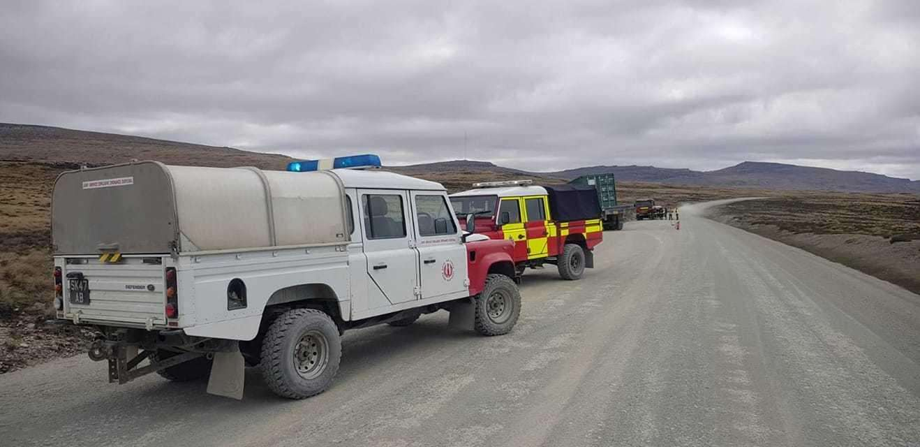 5131 Bomb Disposal Squadron technicians in the Falkland Islands were recently tasked to assist the Falkland Islands Fire Service to a road traffic accident Photo: Courtesy RAF (5306525)