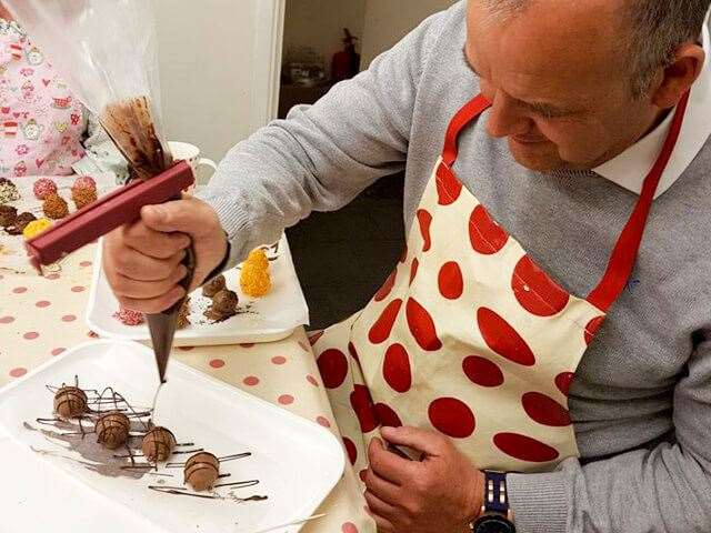 A truffle making workshop at Stamford Heavenly Chocolates