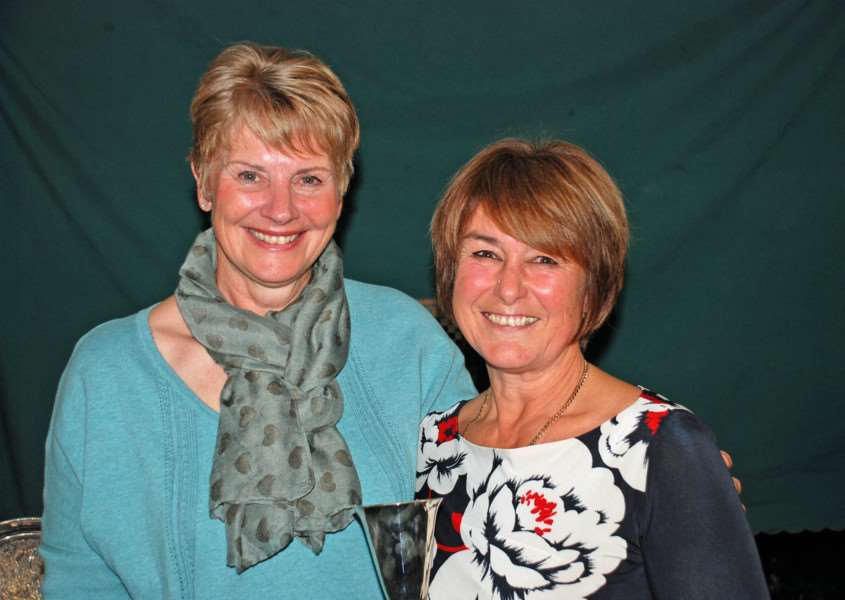 Ladies' Captain Gill Bedford (right) with incoming Ladies Captain Gail Hunt. EMN-150912-161530001