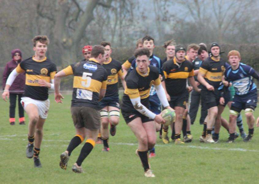 Action from Oakham RFC Colts' semi-final victory EMN-160223-090410001