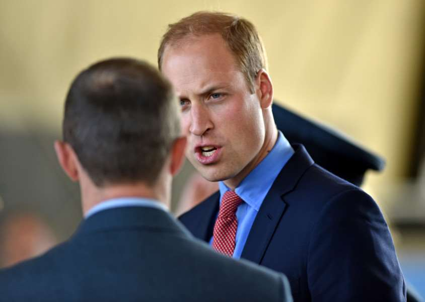 Prince William visits RAF Coningsby