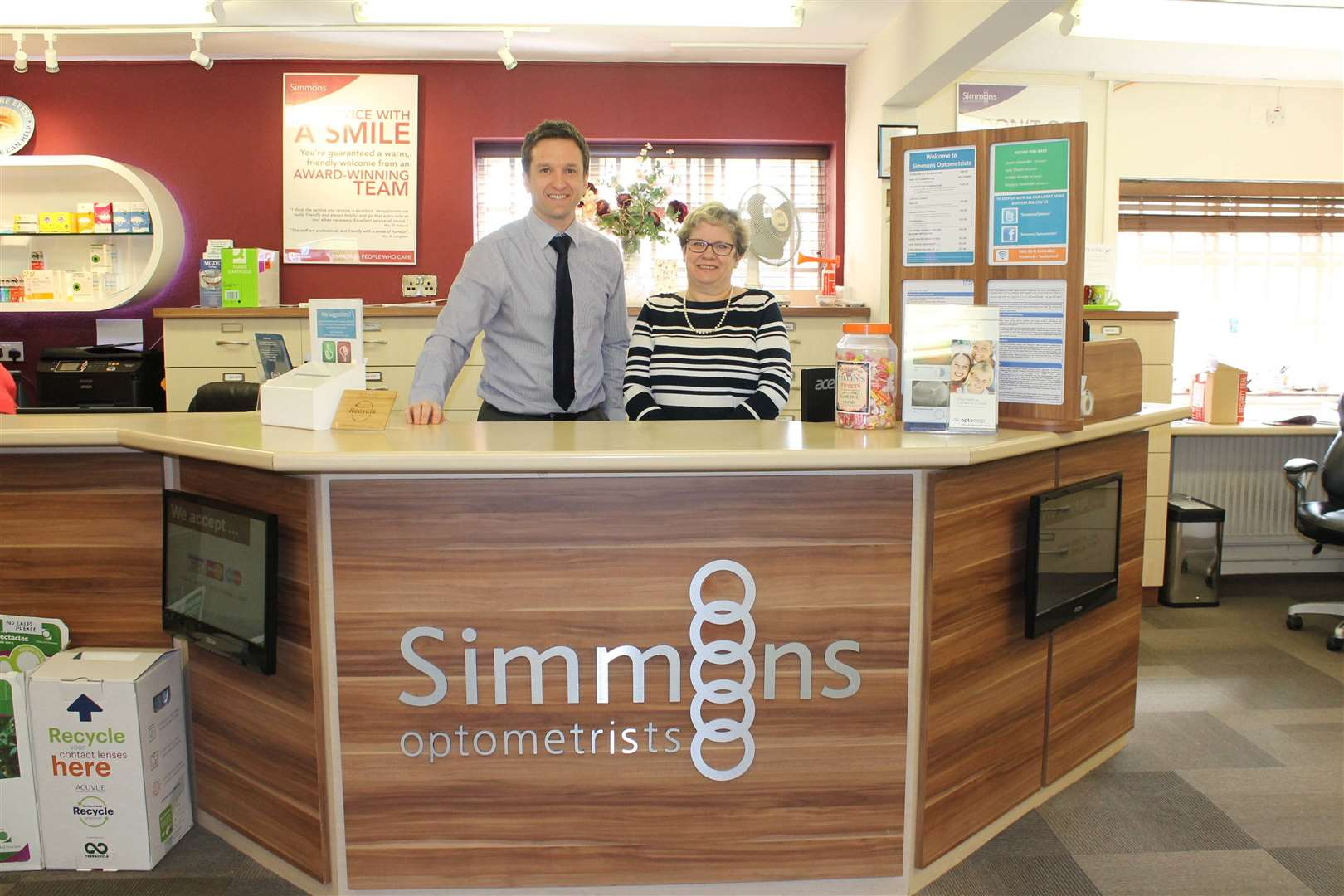 The grant funded an extension at Simmons Optometrists