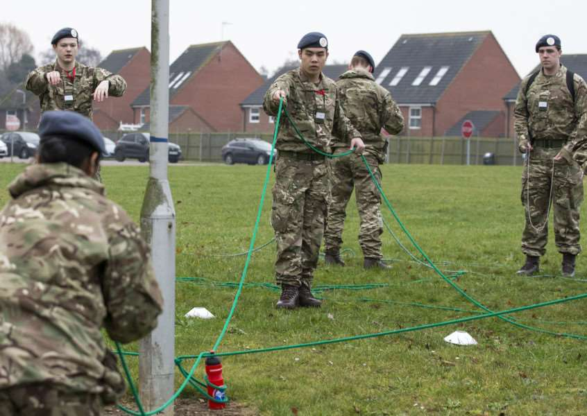 RAF Wittering welcomed recruits from the university squadron. Submitted.