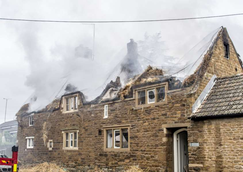 Fire, thatched cottage in Braunston in Rutland'Photo: Lee Hellwing