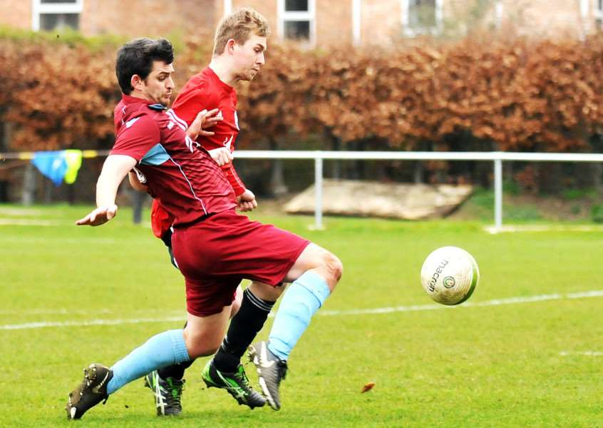 Adam Rothery netted for Bourne on Tuesdya night.