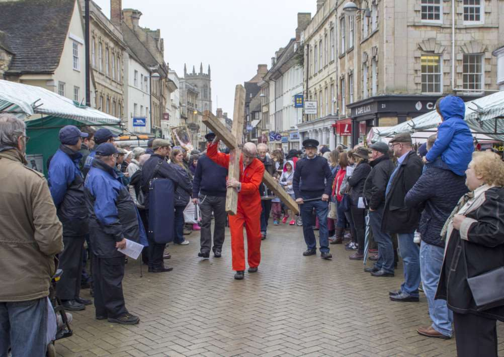 The Walk of Witness in Stamford, Good Friday 2015. Photo: Lee Hellwing MSMP-03-04-15-lh001 EMN-150304-145722001