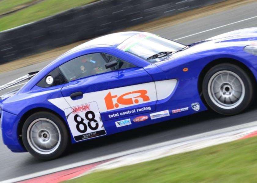 FLYING LAP: Abbi Pulling in testing at Brands Hatch for the new Ginetta Junior Championship season. Photo supplied by MSV Photography.