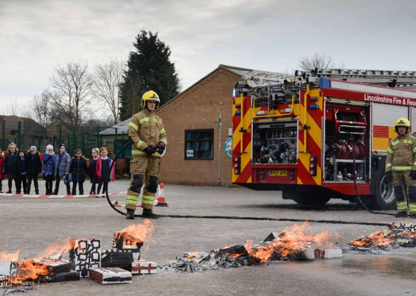 Great Fire of London exercise at Bourne Abbey Academy