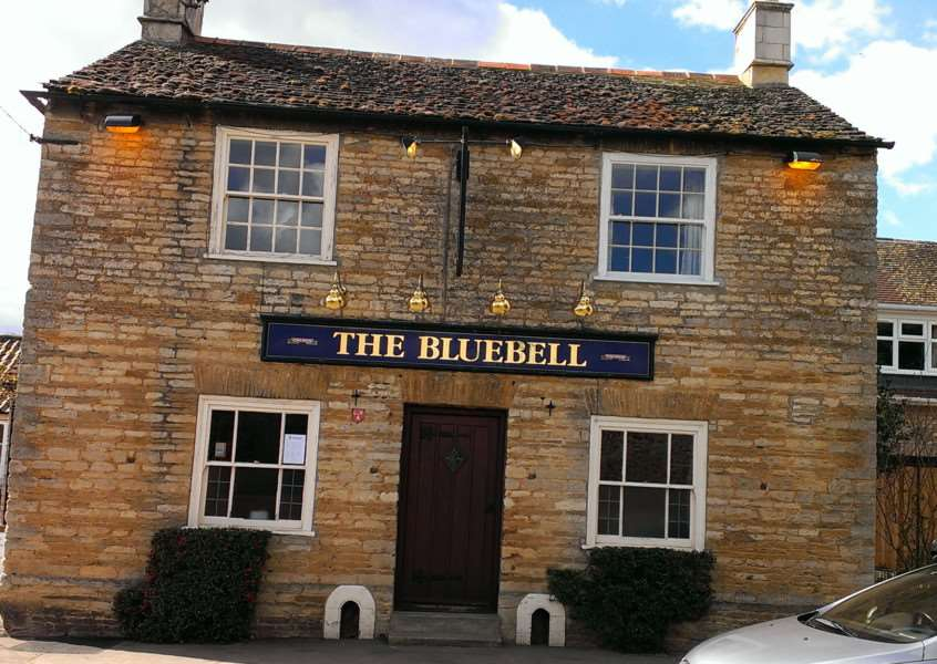 Brad Barnes dines at The Bluebell in Helpston.