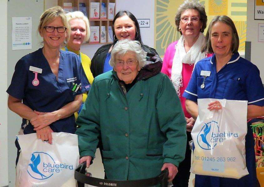 Bluebird Knitting Club visits Peterborough hospital with a fresh batch of wollen loveliness