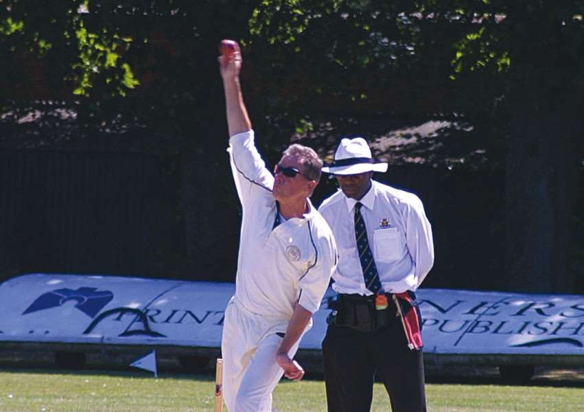 Nick Andrews took 3-51 for England against Australia in an over 60s Ashes Test match.